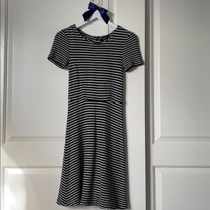 Madewell Striped Fit and Flare Dress